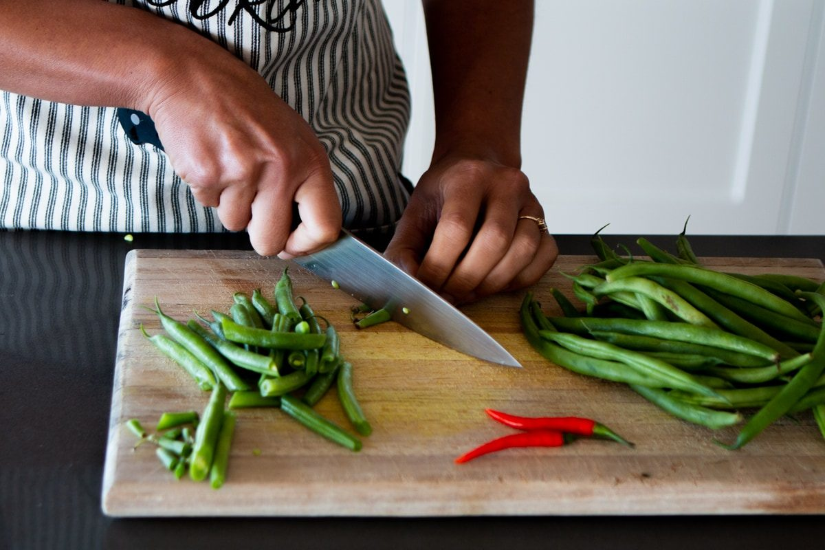 spicy green bean salad cover image