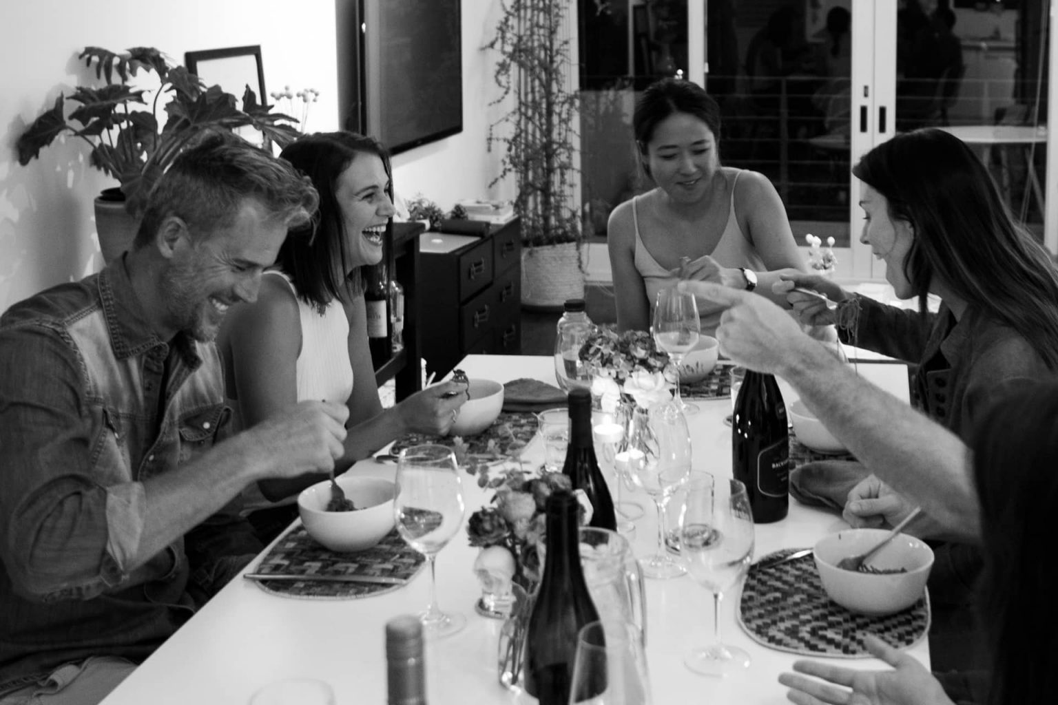 Dinner party with friends in Cape Town