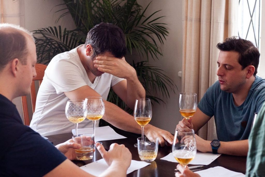 Blind taste test with beer