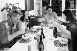 Small dinner party with friends.