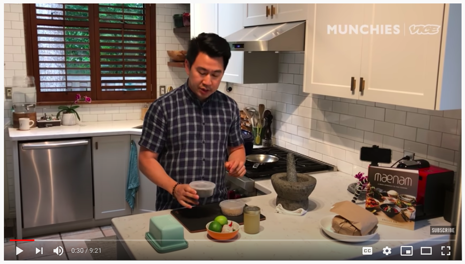 Angus An from Maenam shows us how to make black pepper wings on Munchies.