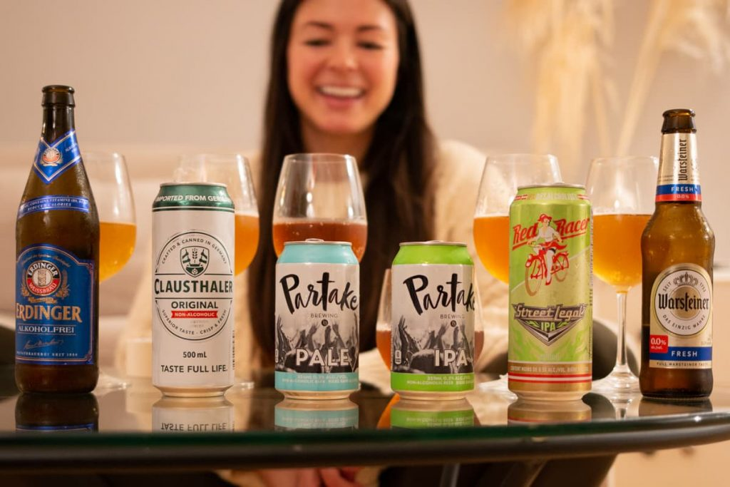 Sitting behind the beers while I stay in touch with friends during an online blind taste test