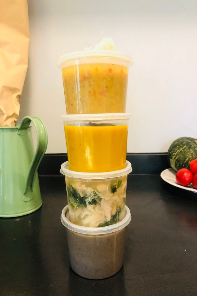 Sharing soups in a soup exchange make a great activity to stay in touch with friends any time of year.
